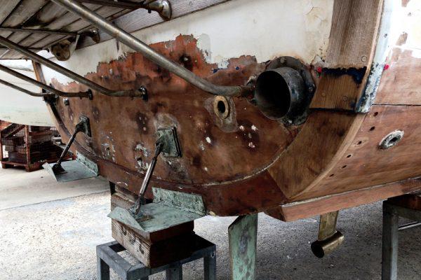 mahogany boat renovation