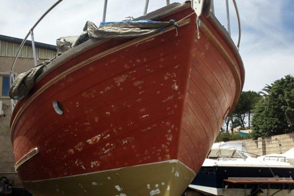 refitting-barca-d'epoca-in-mogano